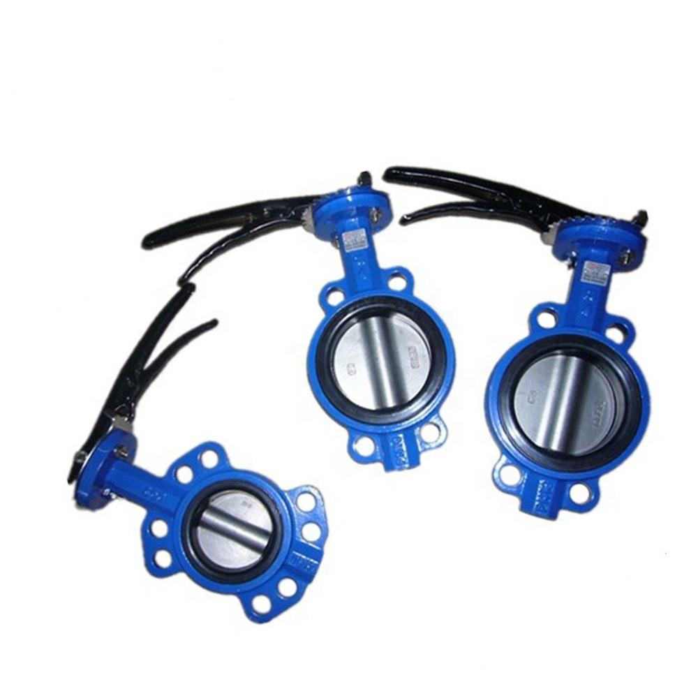 China supplier best selling wafer type lined cast iron butterfly valve