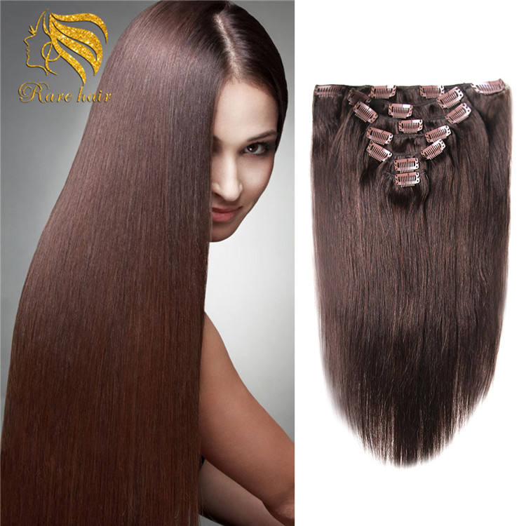 Xuchang Factory High Quality Wholesale Colored Clip In Human Hair Extension