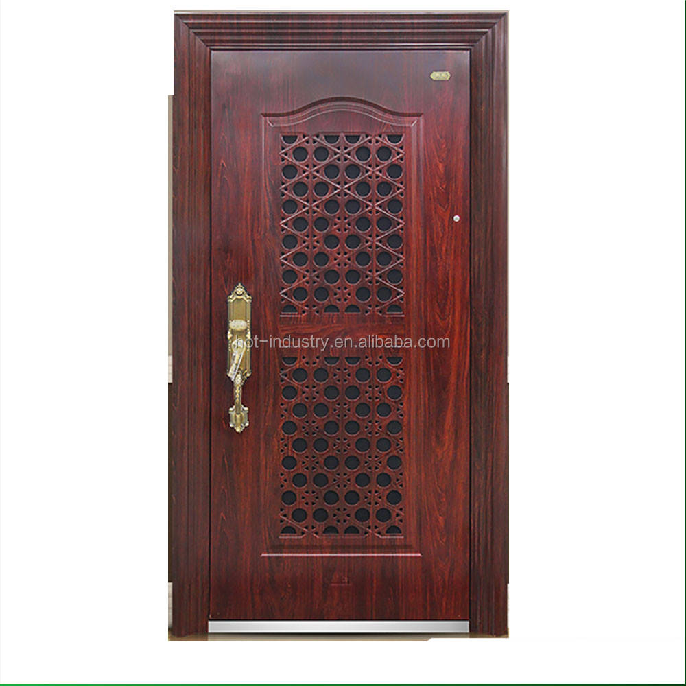 External Safety Security Steel Door Price Security Exterior Single Door
