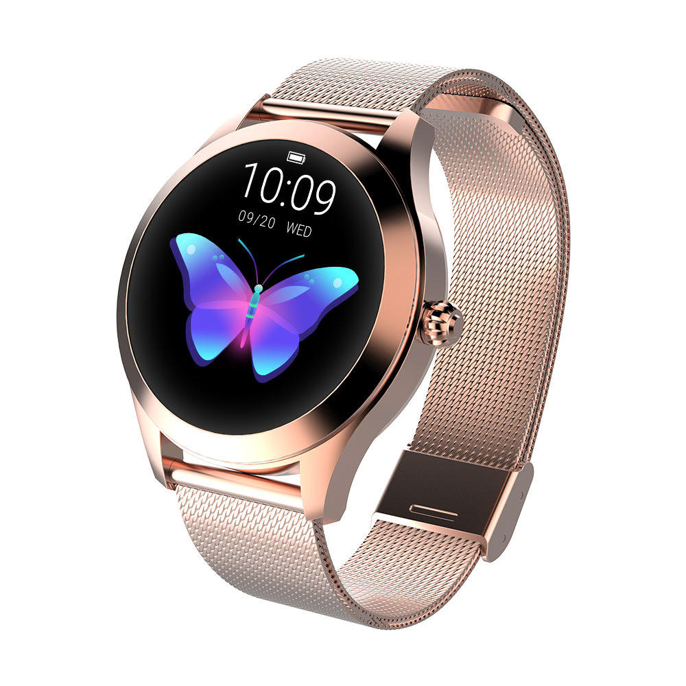 Fashionable Round Screen Smart Watch KW10 For Ladies With CE Rohs Sports Watch Los contadores inteligentes