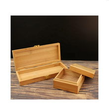 Top Sell Engraved Handcrafted Bamboo Gift Box Trendy Bamboo Jewelry Box