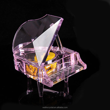 crystal crafts wedding gifts clear and colorful crystal piano