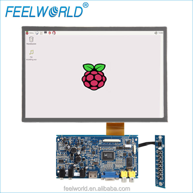 Display raspberry pi met 12.1 inch resistive touchscreen LCD HDMI interface