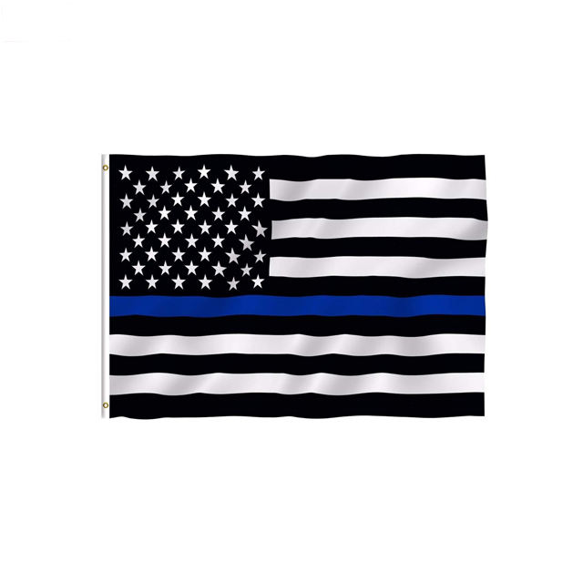 Wholesale Thin Blue Line 3'x5' Ft Lives Matter Brass Grommets Fast Shipping Police Honoring Law Enforcement Officer USA Flag