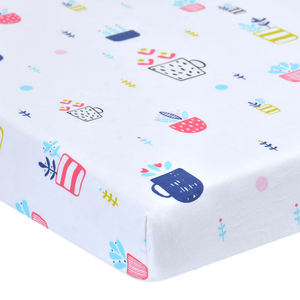 Hot Sale 100% Organic Cotton Fitted Baby Crib Sheet/Baby Bed Set, Bed Sheet