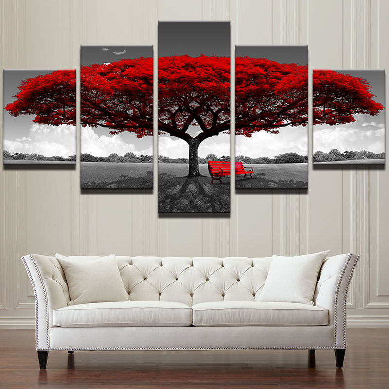 Printed painting, 프리, art work natural tree canvas painting