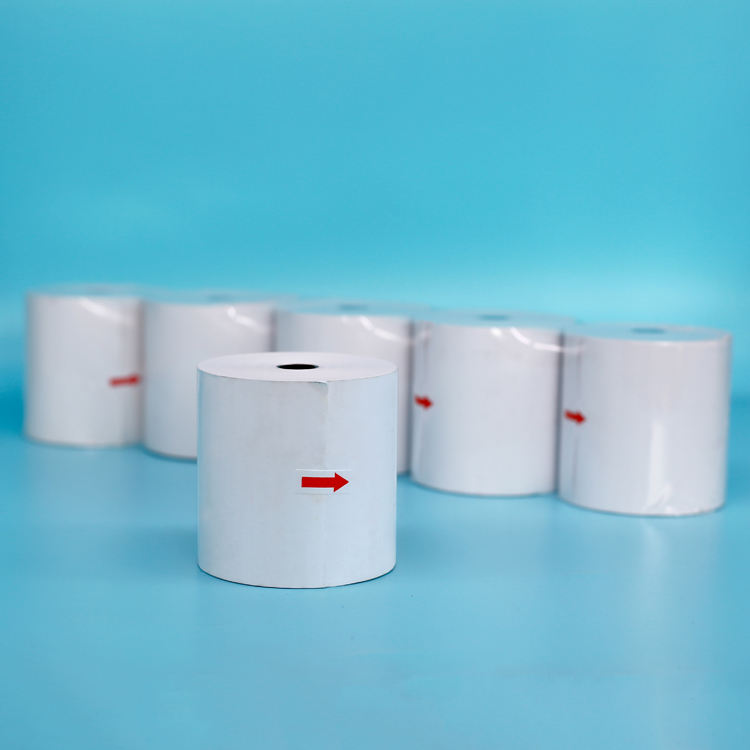 Grade A paper Carbon thermal paper roll with cheapest price from China white wood