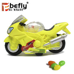 Promotional plastic best sweet candy toy motorcycle