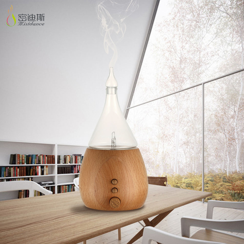 SIXU fashion led lights essential oil aromatherapy cool humidifier diffuser wood base