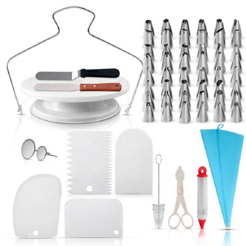 Amazon hot sale cake decorating kit set with cake turntable
