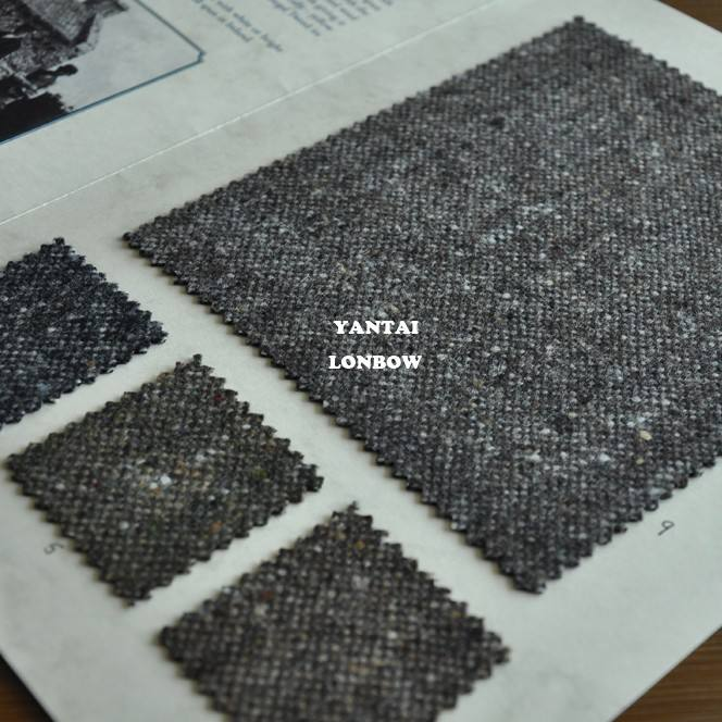 woven speckled onegal tweed woollen fabric