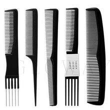 Custom factory OEM new products different types carbon plastic printed mini plastic hair coloring comb brush set comb for hair