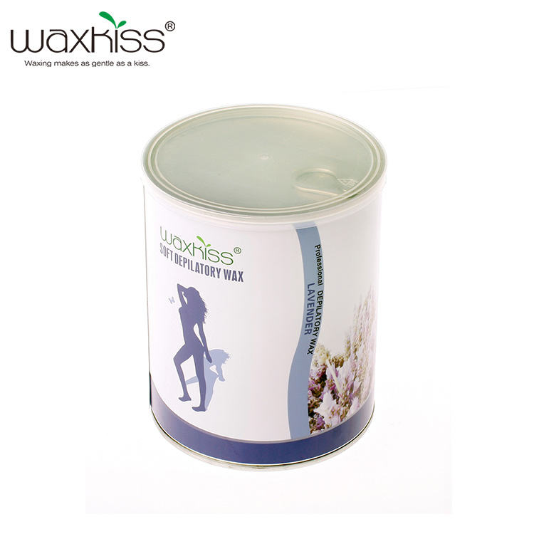 Factory low price 800g soft wax deplitory soft wax body hair removal tin wax