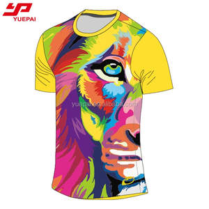 OEM Design tshirt Full sublimation printing t shirt custom print logo and pattern