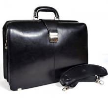 Moshi Classic Design Men Leather Handbag for 15'' Business Laptop Briefcase
