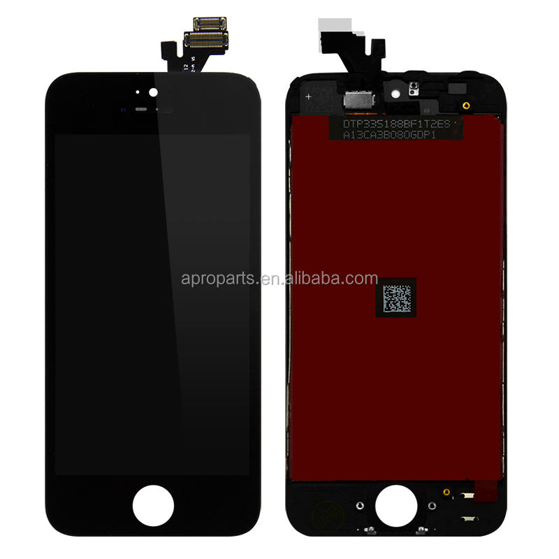 100 pieces LCD For iPhone 5S 5G 5C Display Touch Screen Digitizer Assembly Wholesale Price Black&White Free DHL Shipping