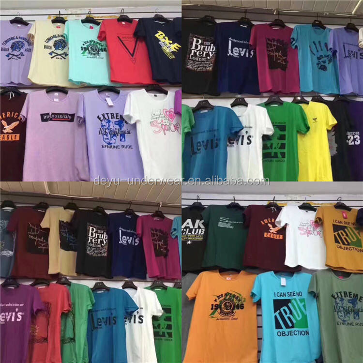 0.9 Dollar GDZW590 Cotton Plus Size T Shirts Men Short Sleeve Colorful clothes, clothing, men's clothing