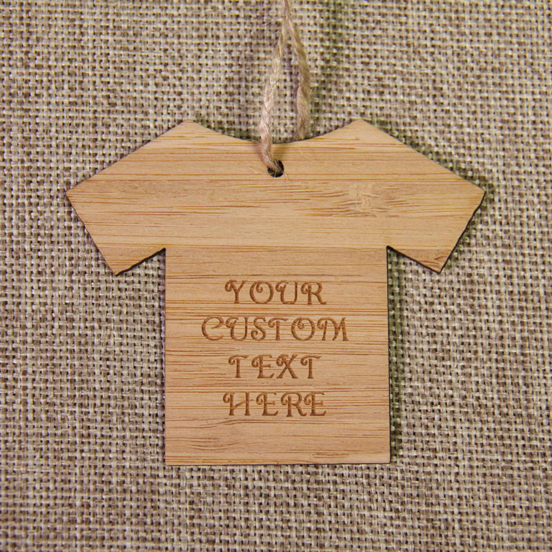 Tag Hangtag Label natural Wood Bamboo clothing tag