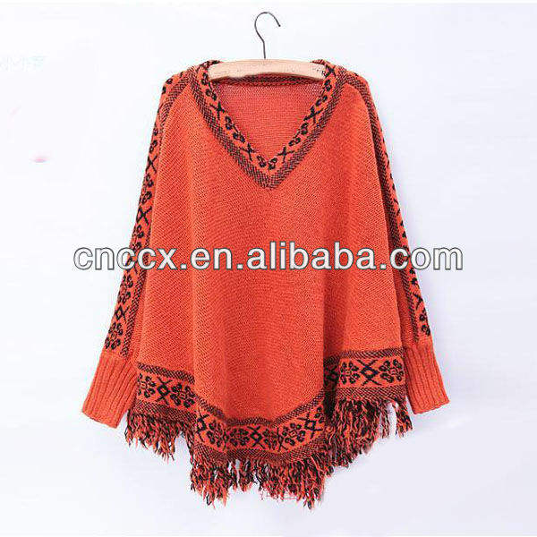 13STC5543 women ponchos pullover 2013 knit sweater poncho