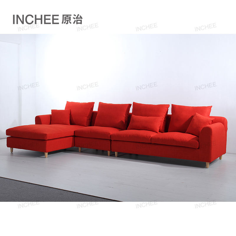 new l shaped fabric sofa people lounge designs