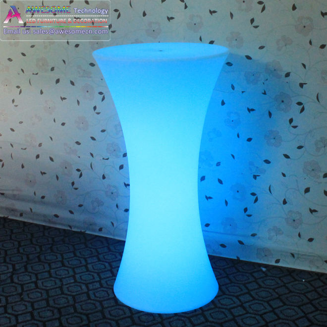 16 colors led cocktail table, led lighting party cocktail table (TP110B)