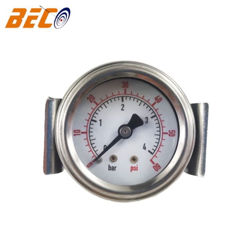 Beco 1.5 inch exact mechanical pressure gauge with U-clamp