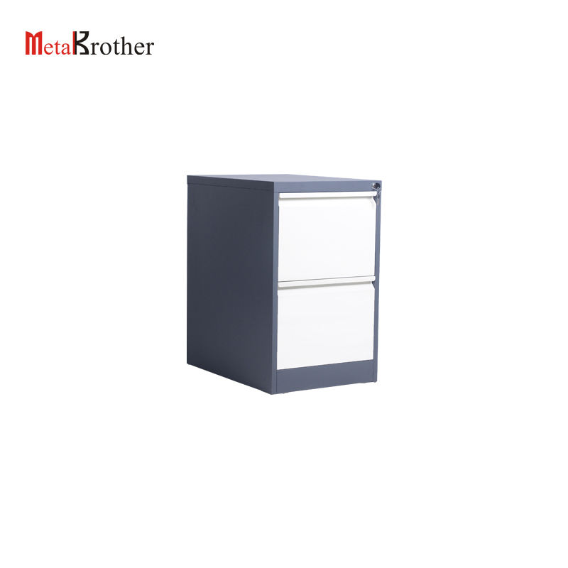 Steel 2 Drawer Slide Filing Cabinet Metal Office Furniture Used Flat File Cabinets Vertical Fireproof Document Storage Lockers