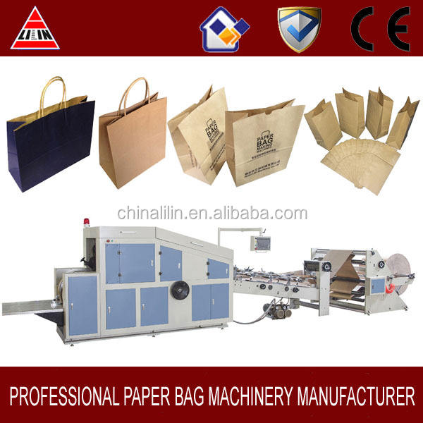 KAHRAMAN MARKA kare alt kağıt torba yapma makinesi Makinesi