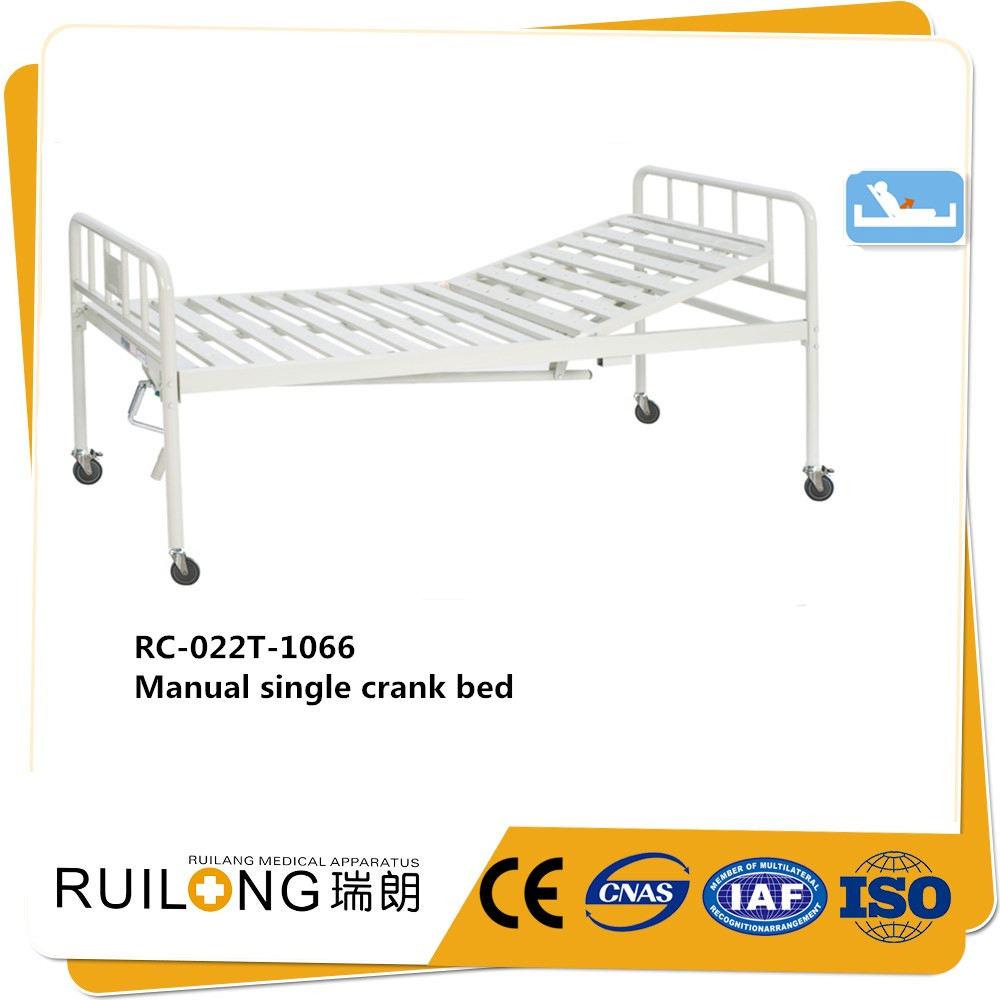 Bianco Comune in acciaio al carbonio bedhead una manovella manuale letto di ospedale