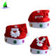 2020 Christmas decoration supplies gorro navidad soft snowman led felt custom light up christmas hats santa claus for adults