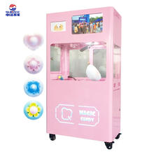 2020 full automatic flower cotton candy vending machine