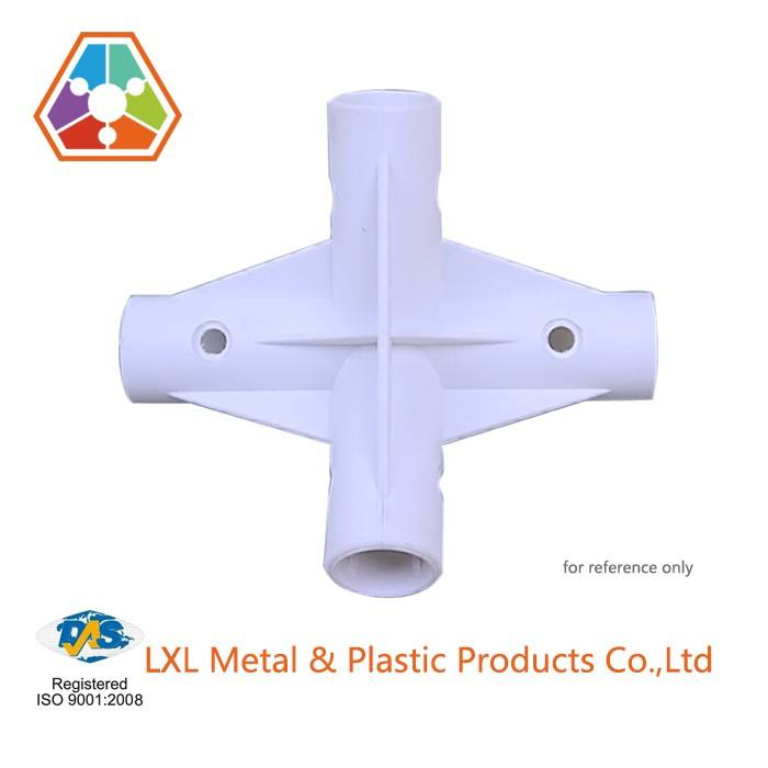 pvc elbow pipe fittings 4 way pipe connector plastic injection molding parts