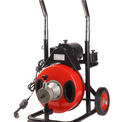 Professional electric drain cleaning machine for sale with 370W CE certification
