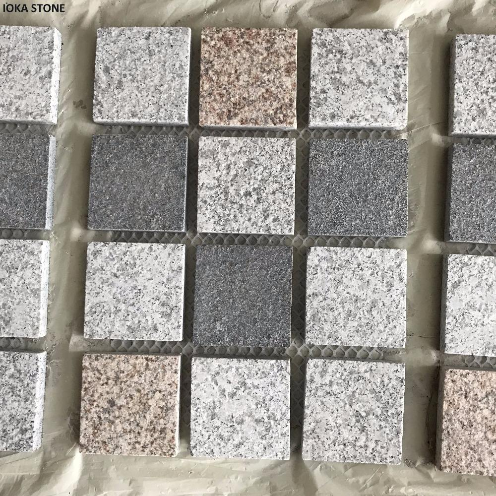 IOKA 2cm flamed surface thin granite driveway paving stones
