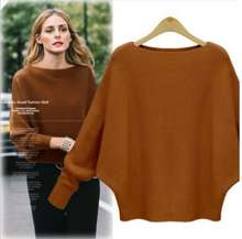 Loose design batwing sleeve fashion knitwear woman cardigan latest casual sweater
