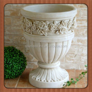 China marble flower plant pot