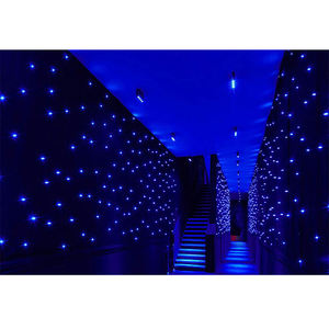 Led Light Star Curtain Display Cheap Decorative Window Shower Curtain