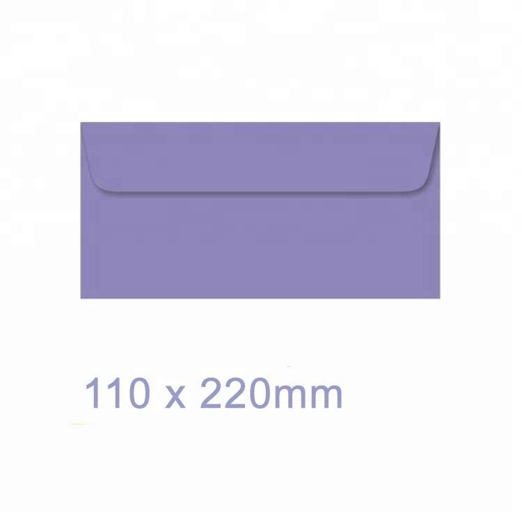DL Purple 110x220mm Envelope with Water based Adhesive printing