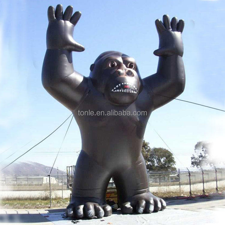 Custom large giant Rooftop Inflatable Gorilla rental for advertising