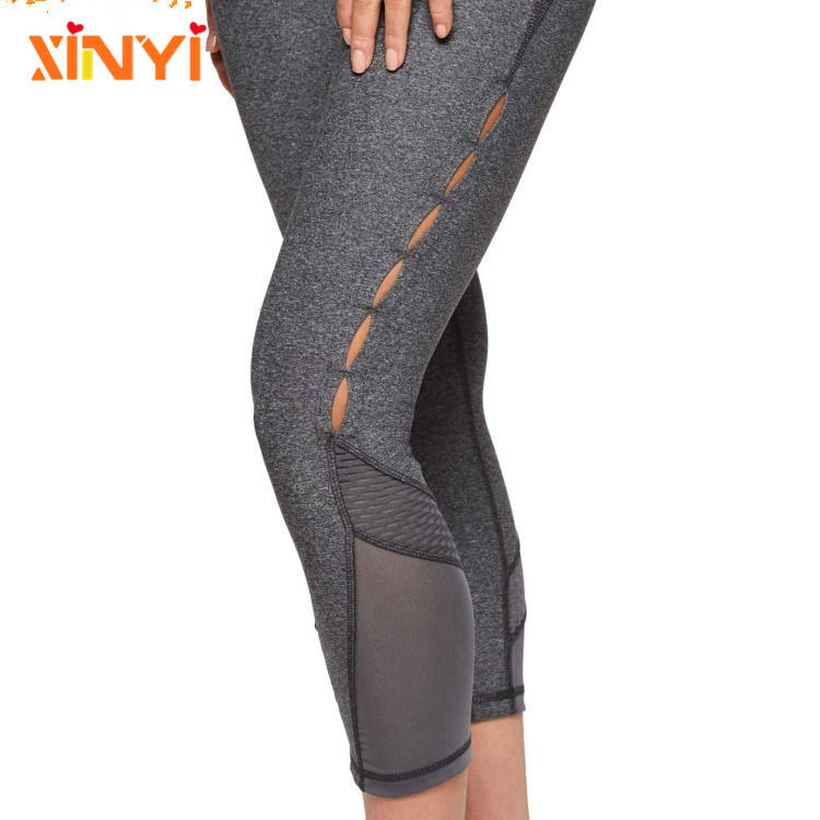 Plus Size [ Capris Leggings ] New Design Yoga Capris Leggings Mesh Fabric Lycra Yoga Pants