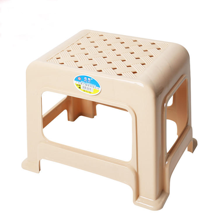 Plastic Tall Rattan Stool /Stackable Plastic Small stool