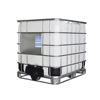 Out door used white 1000 litre IBC plastic tank