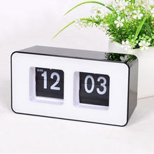 KH-CL086 Promotion Gift Office New Design Number Large Modern Silent Table Desk Retro Auto Flip Clock