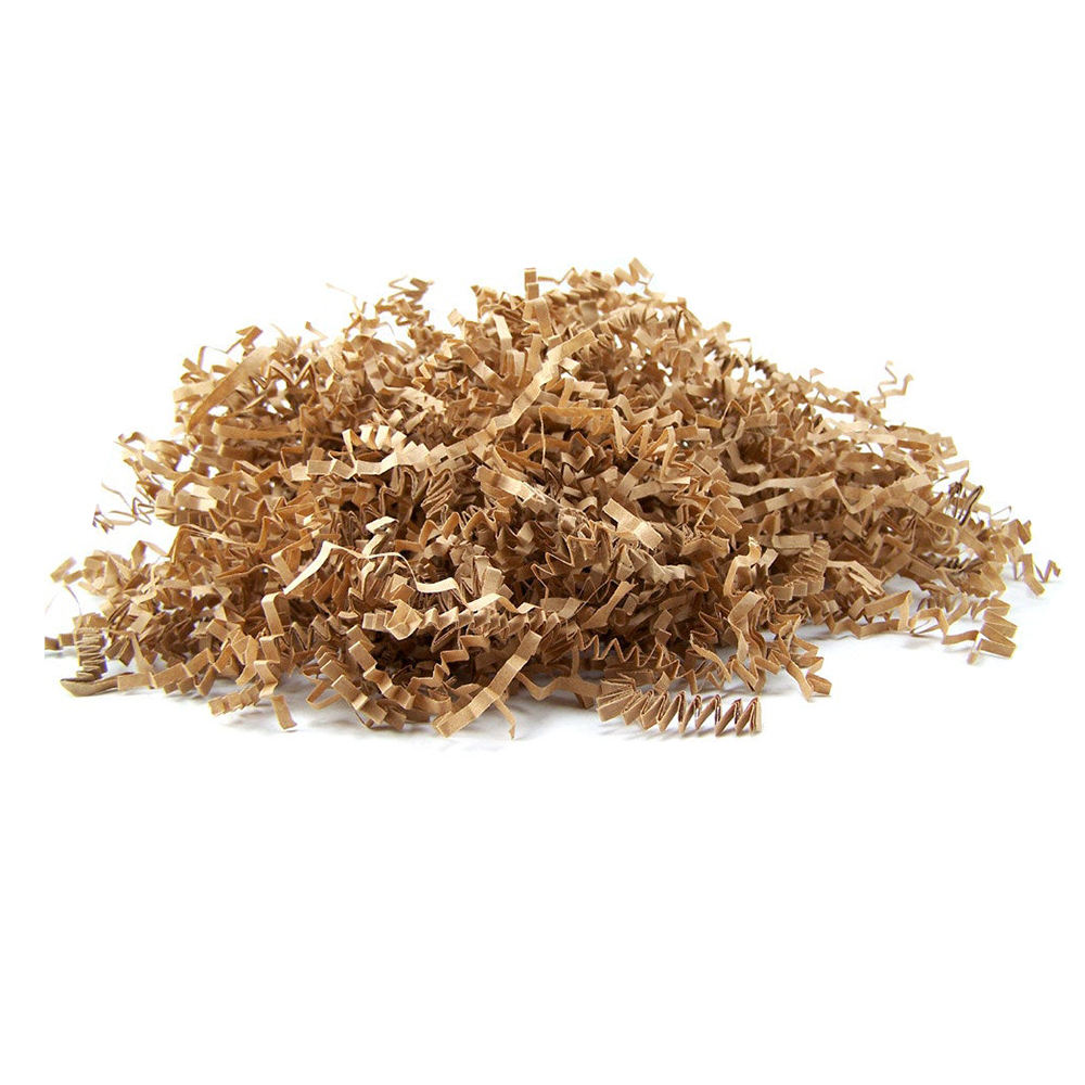 Custom Brown Recycle Shredded Kraft Paper For Hamper Filling And Gift Packaging