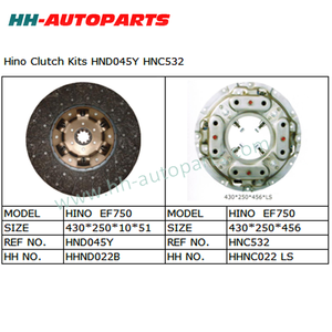 HND045Y HNC532 Clutch Kit for Hino Tractor Clutch Cover Assembly