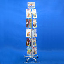 retail shop floor rotary metal magazine cards wire display stand