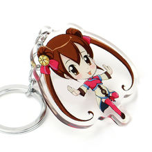 Customized Design Transparent Acrylic charmm,Vograce made key ring