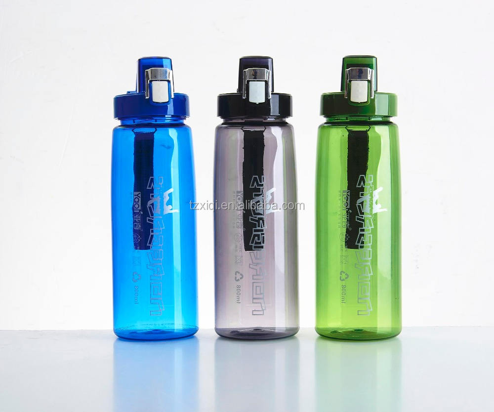 Customized promotional gift 600ml 800ML BPA free sport plastic water bottle