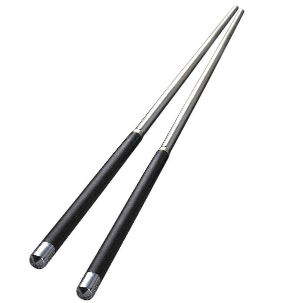 1 Pair High Grade Reusable Chopsticks Metal Chinese Stainless Steel Chop Sticks