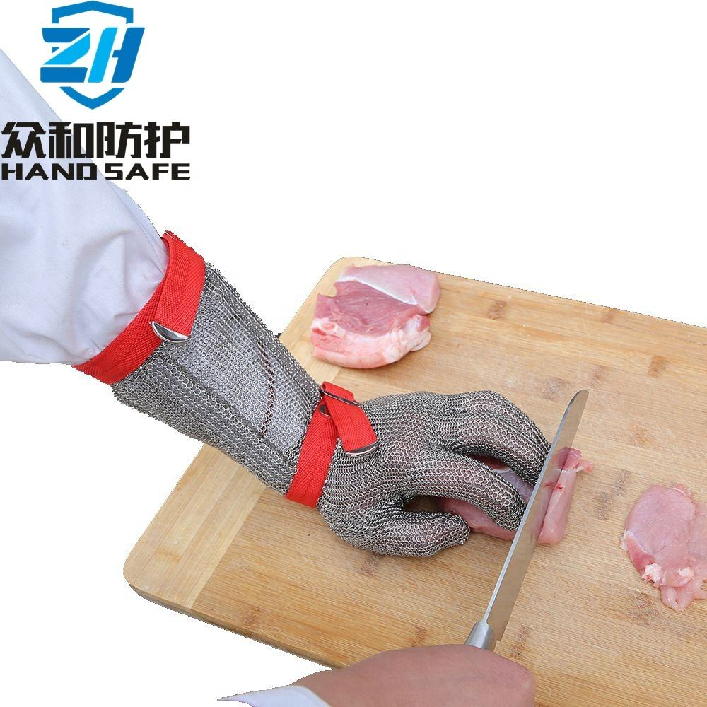 Slaughterhouse protective hand safety metal glove with CE certificate